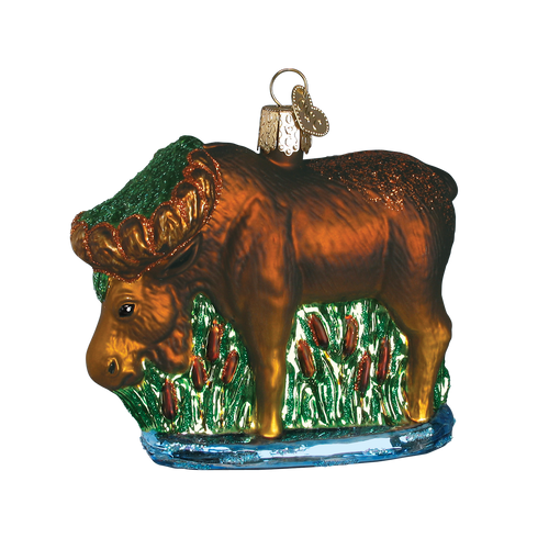Old World Glass - Munching Moose Ornament
