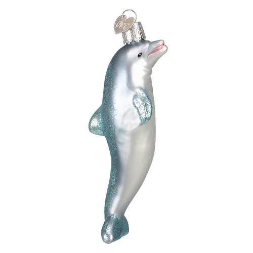 Old World Glass - Playful Dolphin Ornament