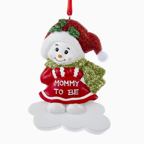Personalizable -  Mommy To Be Snowman Ornament
