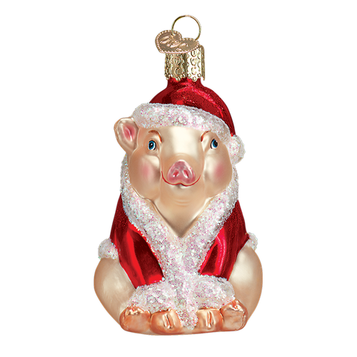 Old World Glass - Christmas Ham Ornament