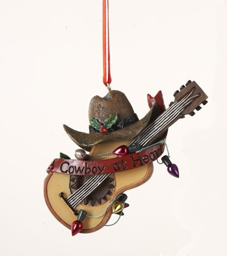 Cowboy at Heart Guitar Ornament