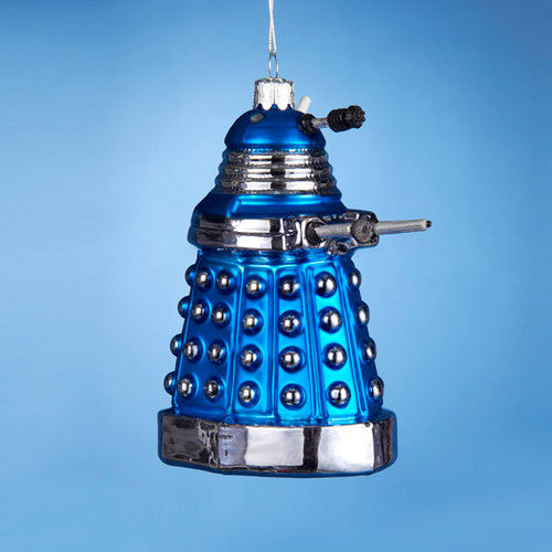 Doctor Who Glass Blue Dalek Ornament