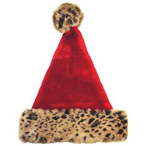 Leopard Santa Hat