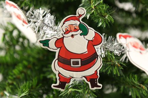 8 Foot Paper Santa Garland