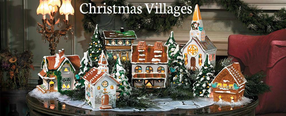 Christmas loft villages, department 56 and lemax