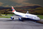 "JC Wings British Airways Boeing 747-400 ""One World"" Reg: G-CIVK with Stand Scale 1/200"
