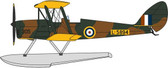 Oxford Diecast DH82 Tiger Moth Float Plane RAF L-5894 Scale 1/72  Due February  2018
