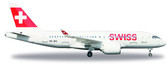 Herpa Swiss International Air Lines Bombardier CS100 HB-JBA (Metal model) Scale 1/200 IS DUE July2017