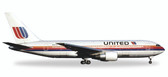 "Herpa United Airlines Boeing 767-200 - ""Rainbow / Saul Bass colors"" - N607UA ""City of Denver"" Scale 1/500 IS DUE APRIL 2017"