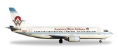 Herpa  America West Airlines Boeing 737-300 - N303AW Scale 1/500 IS DUE APRIL 2017