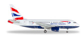 Herpa british Airways A318 Scale 1/400 562560