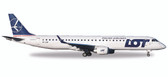 Herpa  LOT Polish Airlines Embraer E195 - SP-LNF Scale 1/500 Due Sept 2017
