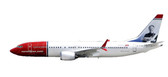 "Herpa Norwegian Air Shuttle Boeing 737 MAX 8 - EI-FYA ""Sir Freddie Laker"" Scale 1/200 611817 Due January 2018"