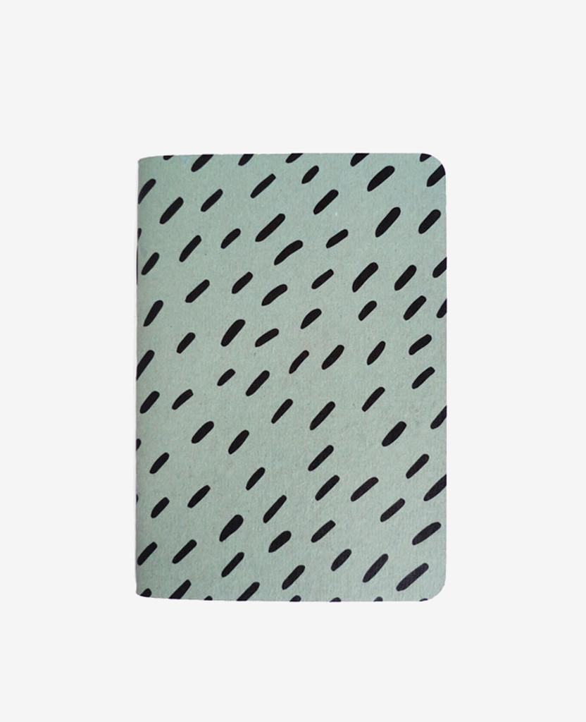 Blue Rice Pattern Notebook