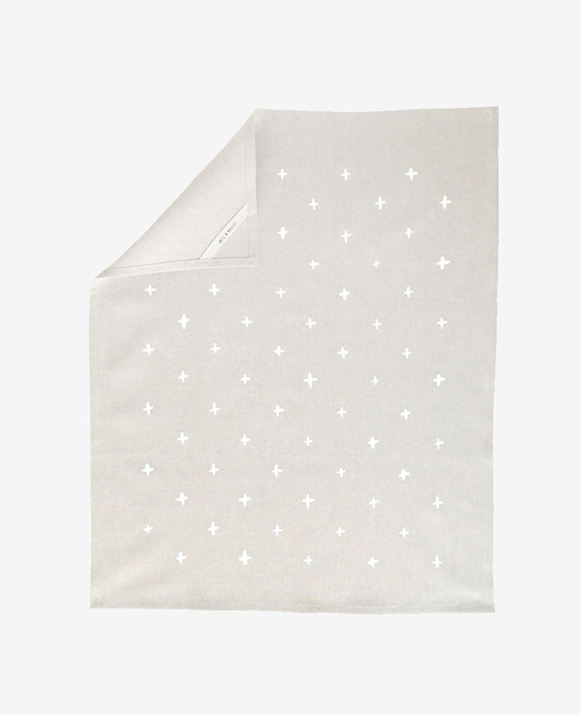 White Plus Linen Tea Towel