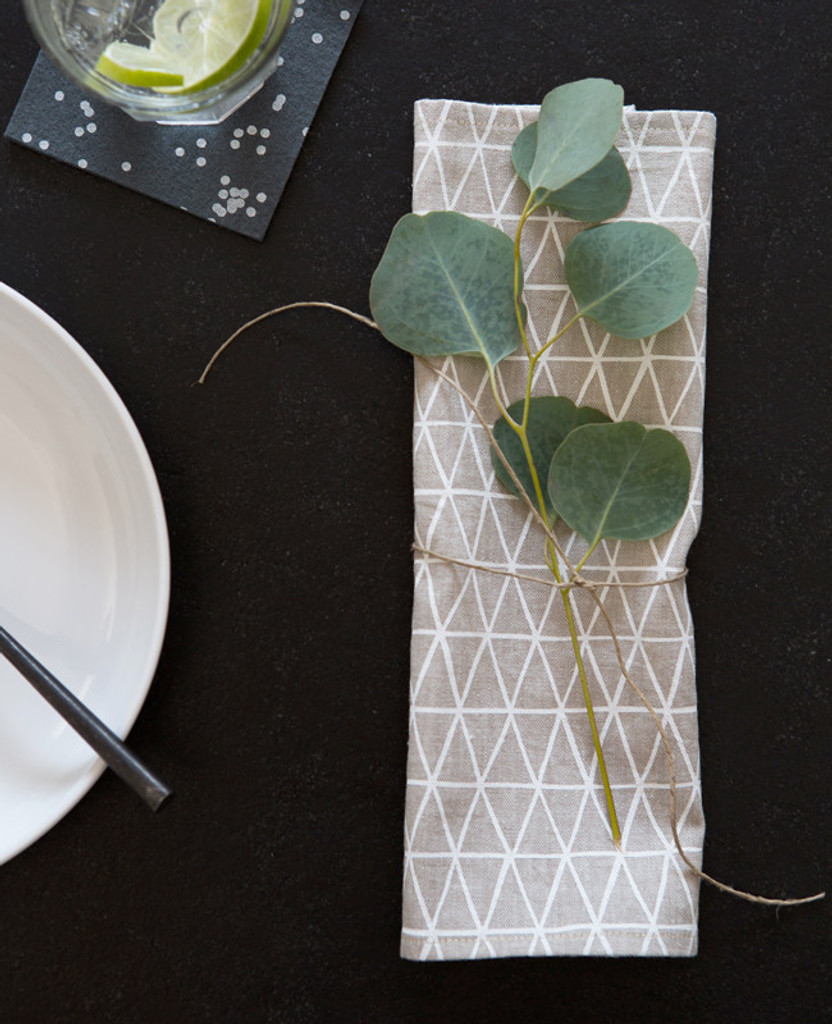 Triangle Cocktail Napkins