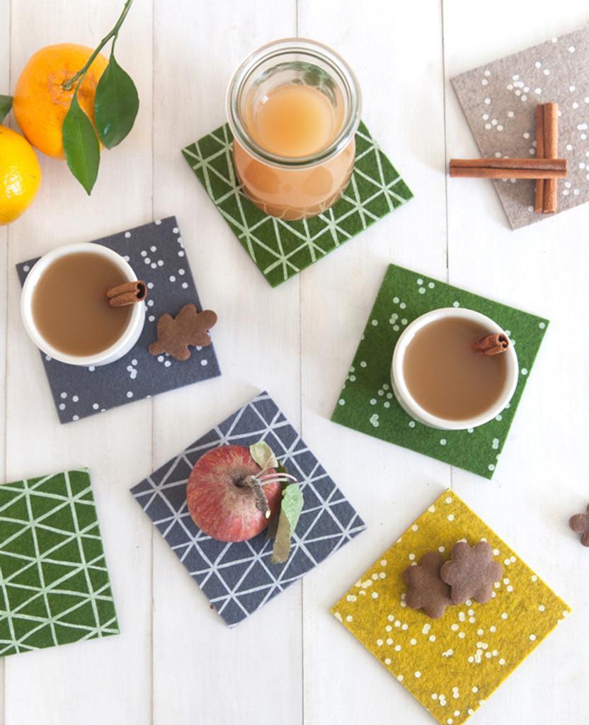Charcoal Triangle Coasters
