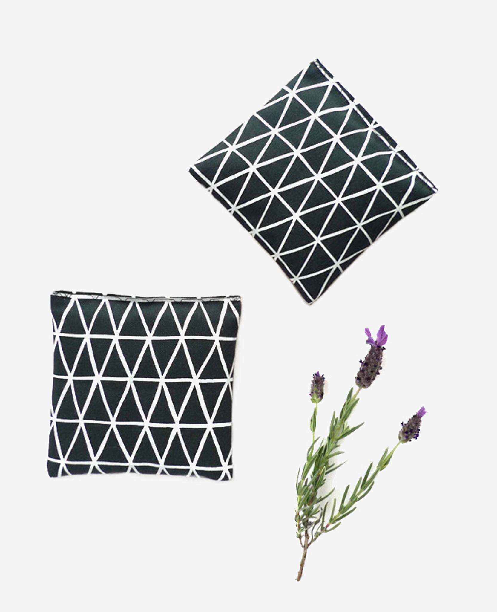 Deep Teal Triangle Lavender Sachet