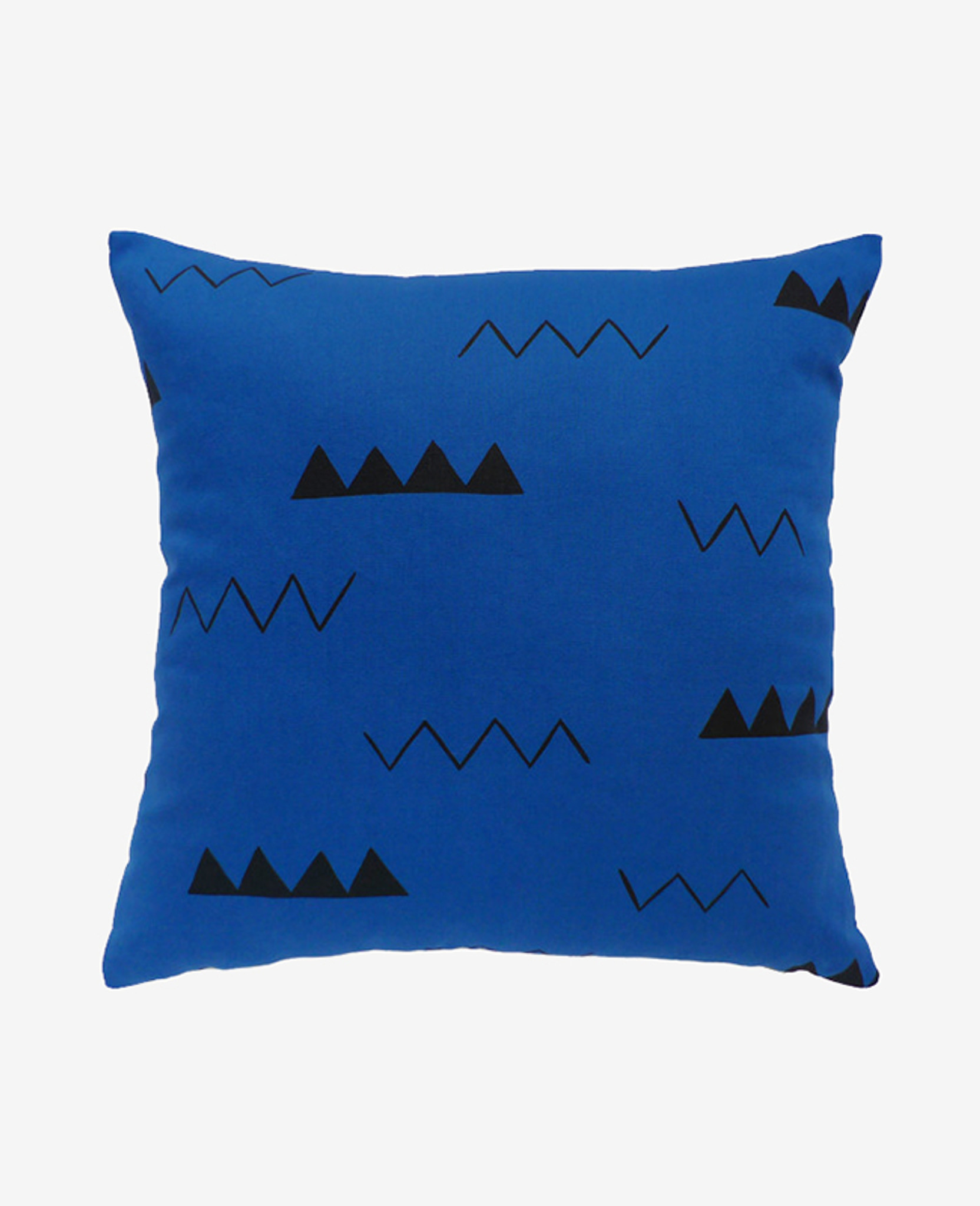 Indigo Blue Zig Zag Pillow