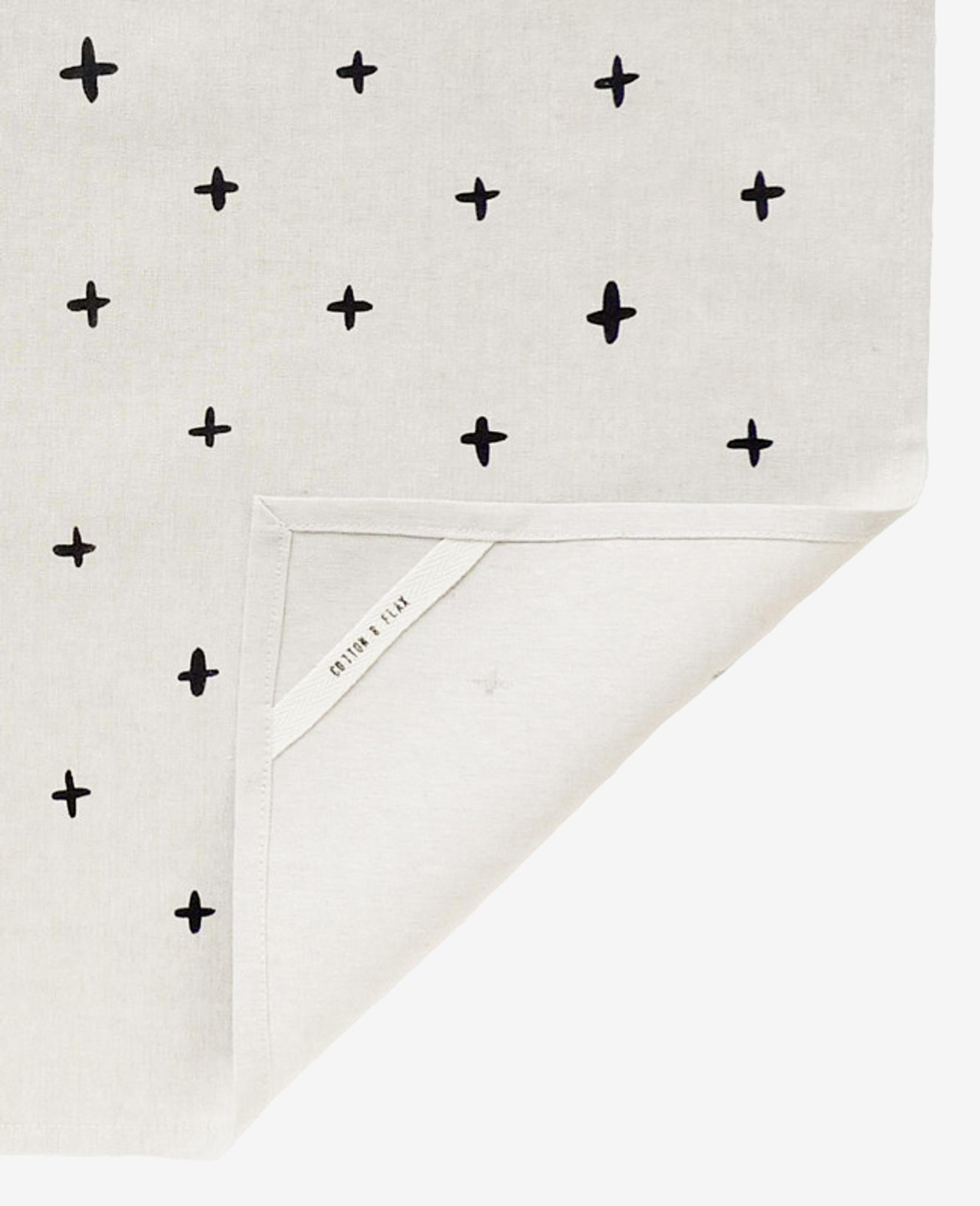 Black Plus Linen Tea Towel