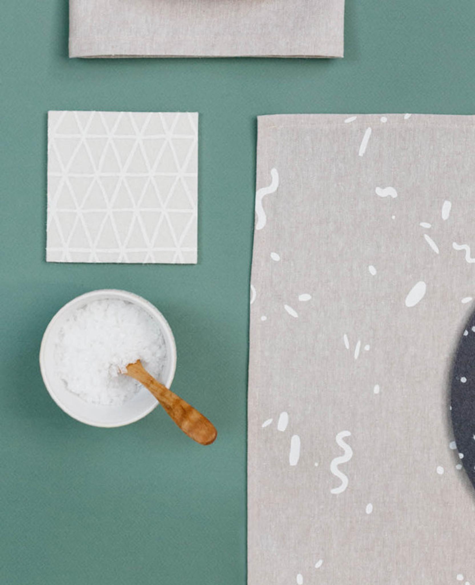 Cosmic White Triangle Coasters