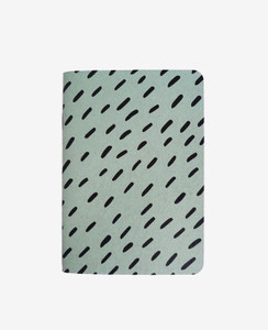 Blue Rice Pattern Notebook