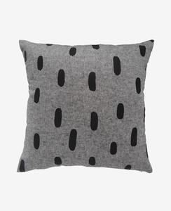 Black Chambray Brushstroke Pillow