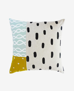 Shallow Tide Patchwork Pillow