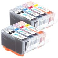 2 Compatible Sets of 4 HP 364 (HP364XL) Printer Ink Cartridges