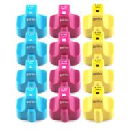 4 Compatible Sets of 3 C/M/Y HP 363 (HP363XL) Printer Ink Cartridges (Colour Set)