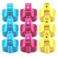 3 Compatible Sets of 3 C/M/Y HP 363 (HP363XL) Printer Ink Cartridges (Colour Set)