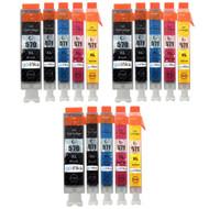 3 Compatible Sets of 5 PGI-570 & CLI-571 Printer Ink Cartridges