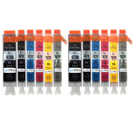 2 Compatible Sets of 6 PGI-570 & CLI-571 Printer Ink Cartridges