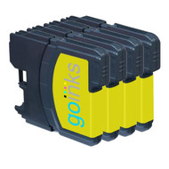4 Yellow Compatible Brother LC985 Printer Ink Cartridges