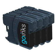 4 Black Compatible Brother LC985 Printer Ink Cartridges