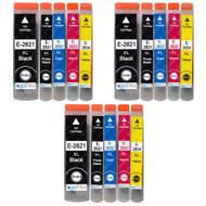 3 non-OEM T2636 (26XL Series) Compatible Set of 5 Epson Printer Ink Cartridges (T2621, T2631, T2632, T2633, T2634)