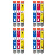 4 non-OEM T2636 (26XL Series) C/M/Y Compatible Set of 3 Epson Printer Ink Cartridges T2632 / T2633 / T2634 (Colour Set)