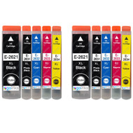 2 non-OEM T2636 (26XL Series) Compatible Set of 5 Epson Printer Ink Cartridges (T2621, T2631, T2632, T2633, T2634)