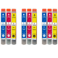 3 non-OEM T2636 (26XL Series) C/M/Y Compatible Set of 3 Epson Printer Ink Cartridges T2632 / T2633 / T2634 (Colour Set)