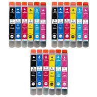 3 non-OEM T2438 (24XL Series) Compatible Set of 6 Epson Printer Ink Cartridges (T2431, T2432, T2433, T2434, T2435, T2436)