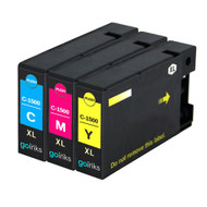 1 Compatible Set of 3 C/M/Y Canon PGI-1500XL Printer Ink Cartridges (Colour Set)