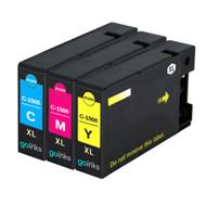 1 Compatible Set of 3 C/M/Y Canon PGI-1500XL Printer Ink Cartridges (Colour Set)