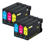 2 Compatible Sets of 3 C/M/Y Canon PGI-1500XL Printer Ink Cartridges (Colour Set)