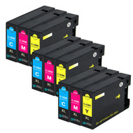 3 Compatible Sets of 3 C/M/Y Canon PGI-1500XL Printer Ink Cartridges (Colour Set)