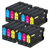 4 Compatible Sets of 3 C/M/Y Canon PGI-1500XL Printer Ink Cartridges (Colour Set)