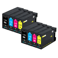 2 Compatible Sets of 4 PGI-1500XL Printer Ink Cartridges