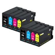 2 Compatible Sets of 4 PGI-1500XL Printer Ink Cartridges