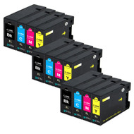 3 Compatible Sets of 4 PGI-1500XL Printer Ink Cartridges