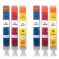 2 Compatible Sets of 3 C/M/Y HP 920 (HP920XL) Printer Ink Cartridges (Colour Set)