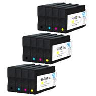 3 Compatible Sets of 4 HP 950 & 951 (HP 950XL & 951XL) Printer Ink Cartridges